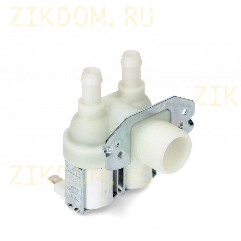Клапан стиральной машины двойной угловой Whirlpool 481981729012
