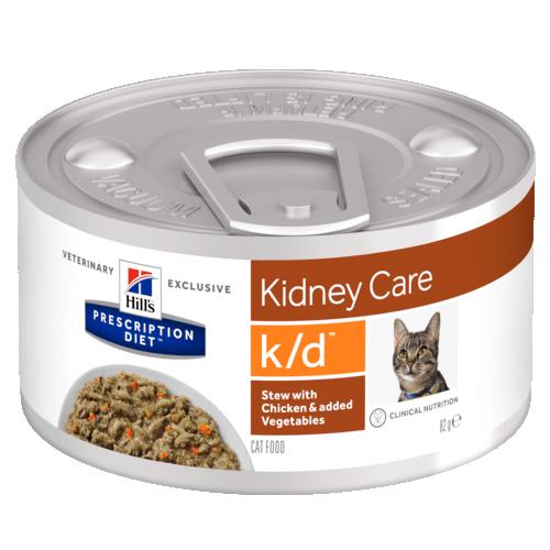 Консервы Hill's Prescription Diet k/d Рагу, влажный корм с курицей и добавлением овощей для кошек 82 гр