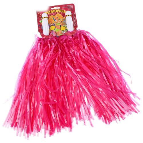 Помпоны для черлидинга и танцев Pom Poms, цвет - розовый.