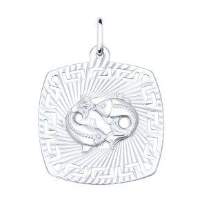 Подвеска «Знак зодиака Рыбы» из серебра 94030869 SOKOLOV