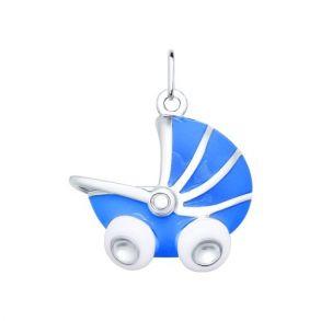 Подвеска в форме детской коляски 94031419 SOKOLOV