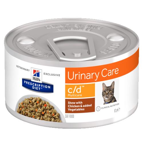 Консервы Hill's Prescription Diet c/d Рагу для кошек при профилактике МКБ, с курицей 82 гр