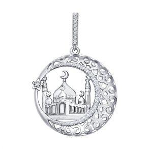 Мусульманская подвеска «Тадж Махал» 94031221 SOKOLOV