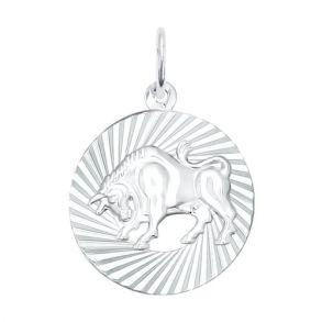 Подвеска «Знак зодиака Телец» из серебра 94030883 SOKOLOV