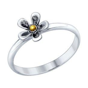 Кольцо из чернёного серебра 95010087 SOKOLOV
