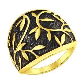Кольцо из золочёного серебра 95010097 SOKOLOV