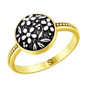 Кольцо из золочёного серебра 95010108 SOKOLOV