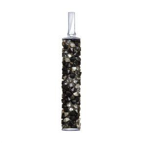 Подвеска из серебра с чёрными кристаллами Swarovski 94032188 SOKOLOV