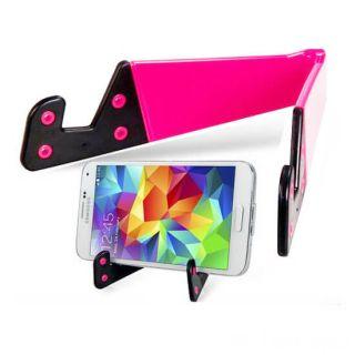 Раскладной держатель для смартфона и планшета, Цвет: Розовый