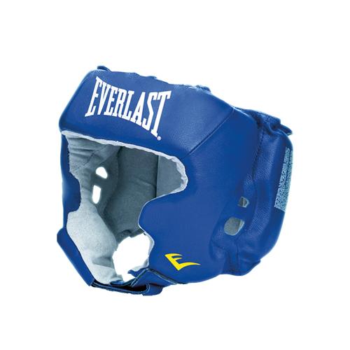 Шлем боксёрский Everlast с защитой щек USA Boxing синий, р. М, артикул 620206U