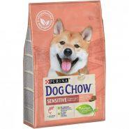 DOG CHOW Sensitive Корм для собак с чувствительным пищеварением с лососем (2,5 кг)