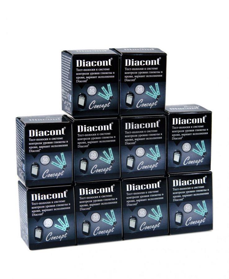 Тест-полоски Diacont Concept № 500 (10 упаковок)