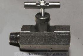 Вентиль стальной прямоточный под манометр ВПЭМ 5х35ХЛ К1/2-Н М20х1,5-В, сталь 12Х18Н10Т (PN 70 МПа)