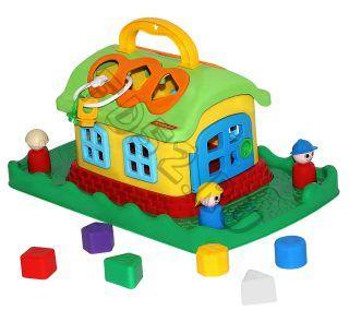 Развивающая игрушка Сказочный домик на лужайке