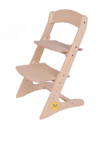 Детский растущий стул без лака и краски