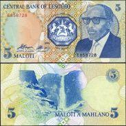 Лесото - 5 Малоти 1989 UNC