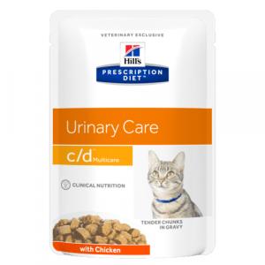 Консервы Hill's prescription Dietc/d Multicare Feline with Chicken паучи C/D для кошек при профилактике МКБ с курицей (кусочки в соусе) 85 гр