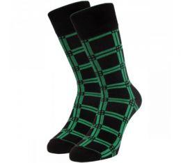 Мужские цветные носки  с418 квадраты крупные
