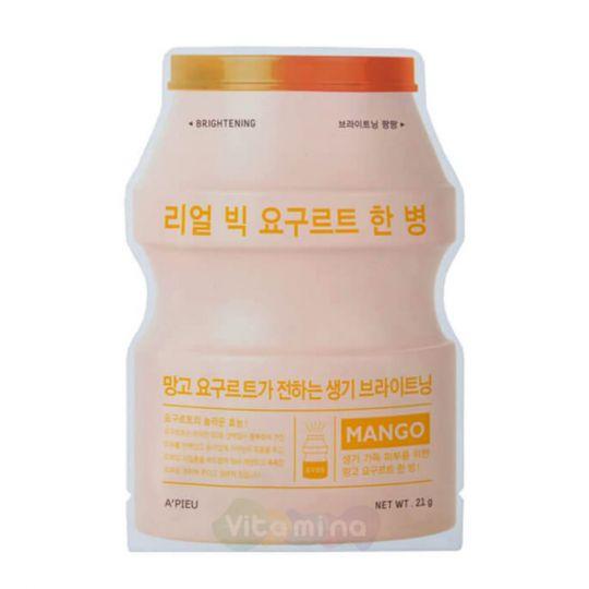 A'Pieu Йогуртовая маска для лица с экстрактом фруктов Real Big Yogurt One-Bottle, 21 мл