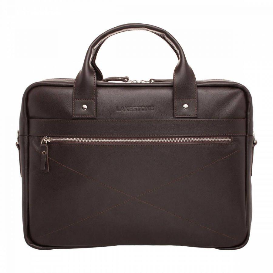 Деловая сумка Lakestone Bartley Brown из кожи