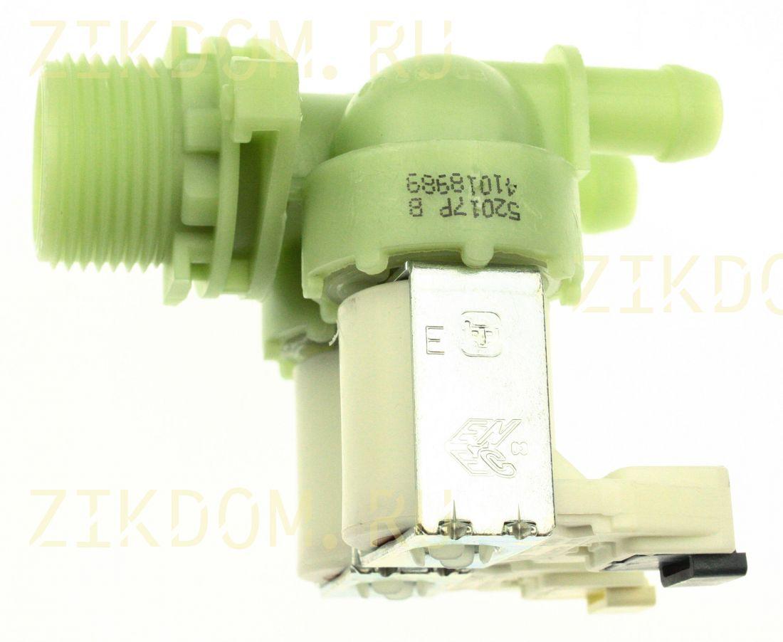Клапан стиральной машины двойной прямой Candy 41018989