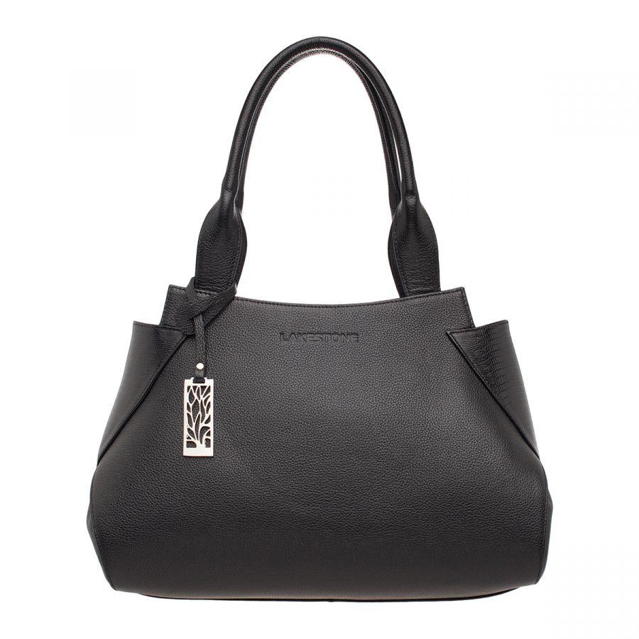 Кожаная Женская сумка Lakestone Osprey Black