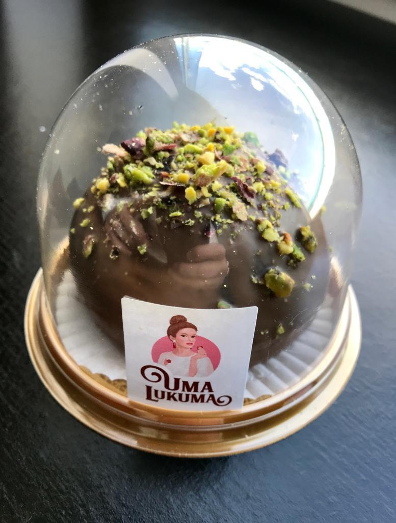 """Джезерье атом """"Дворцовый"""" финики в шоколадной глазури с фисташкой"""