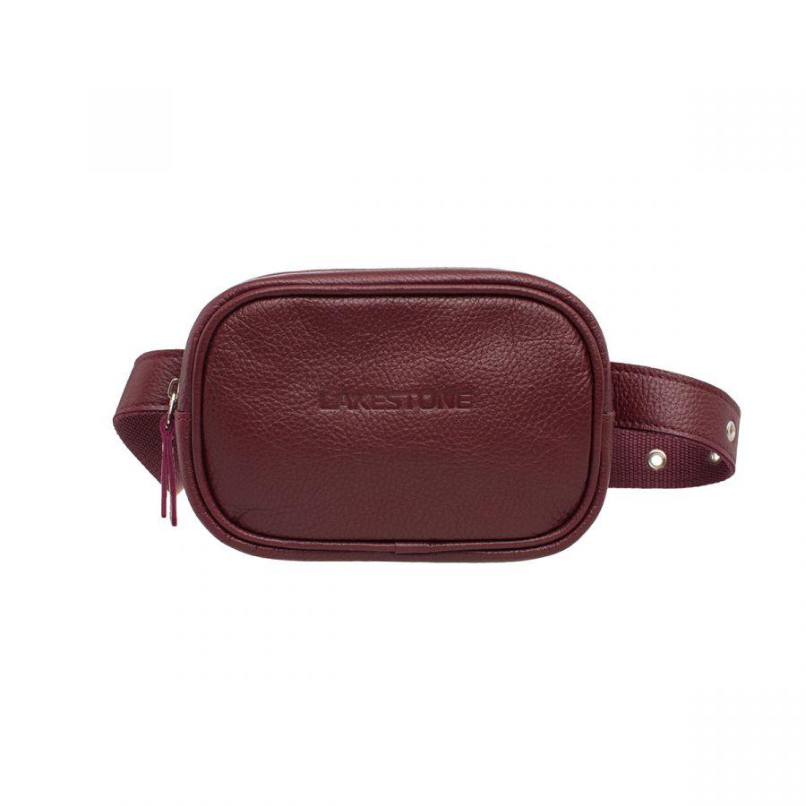 Женская сумка Lakestone на пояс Alma Burgundy