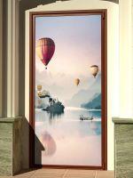 Наклейка на дверь - Воздухоплаватели | магазин Интерьерные наклейки