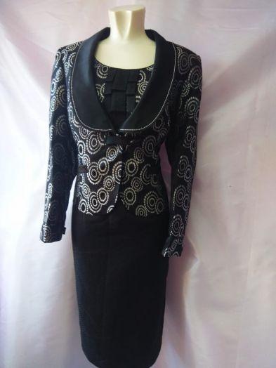 Платье черное Artex с пиджаком