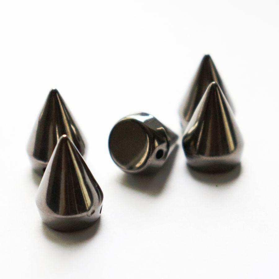 Шипы декоративные, пришивные, 2 см, Темный никель, 5 шт/упак