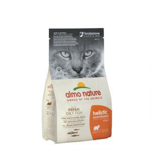 Корм сухой Almo nature  для взрослых кошек с рыбой и рисом 12кг.