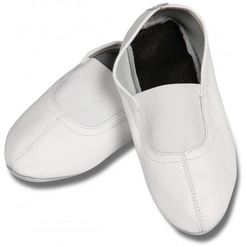 Чешки кожаные с мягкой стелькой INDIGO GS101 белые