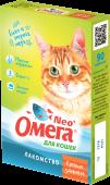 """Омега Neo+ Мультивитаминное лакомство для кошек """"Крепкое здоровье"""" (90 табл.)"""