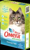 Омега Neo+ Мультивитаминное лакомство для кошек для выведения шерсти (90 табл.)
