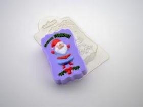 """Форма пластиковая для мыла и шоколада """" С Новым Годом Дед Мороз"""""""