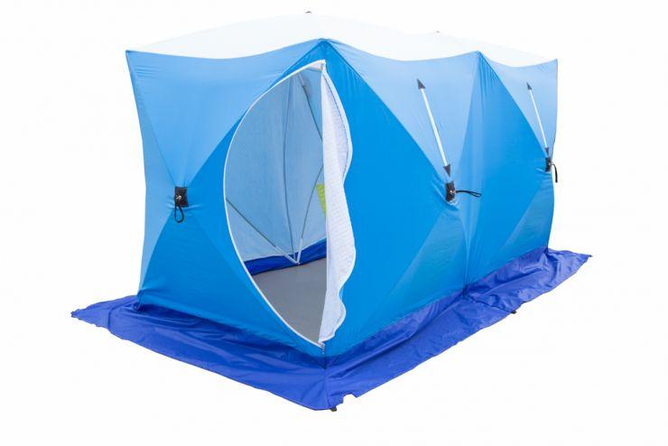 Палатка   зимняя Стэк КУБ 2 трехслойная ДУБЛЬ дышащая