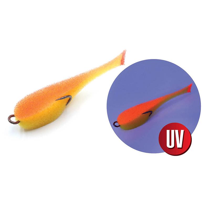 Поролоновая рыбка цвет 20 UV, уп.(5шт.) с двойником