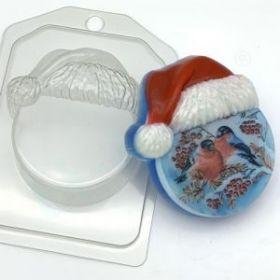 """Форма для мыла и шоколада """"Круг в новогодней шапке"""""""