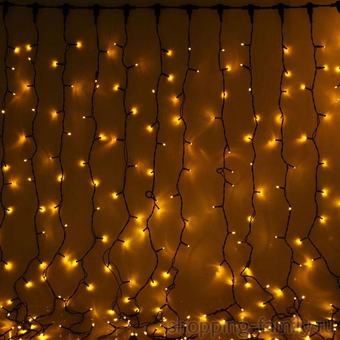 Светодиодная гирлянда Шторка 320 LED , 3*2 м. Цвет Желтый
