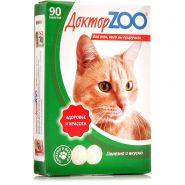 """Доктор ZOO """"Здоровье и красота"""" Мультивитаминное лакомство для кошек с L-карнитином и таурином  (90 табл.)"""