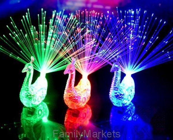 Светящаяся LED игрушка ПАВЛИН