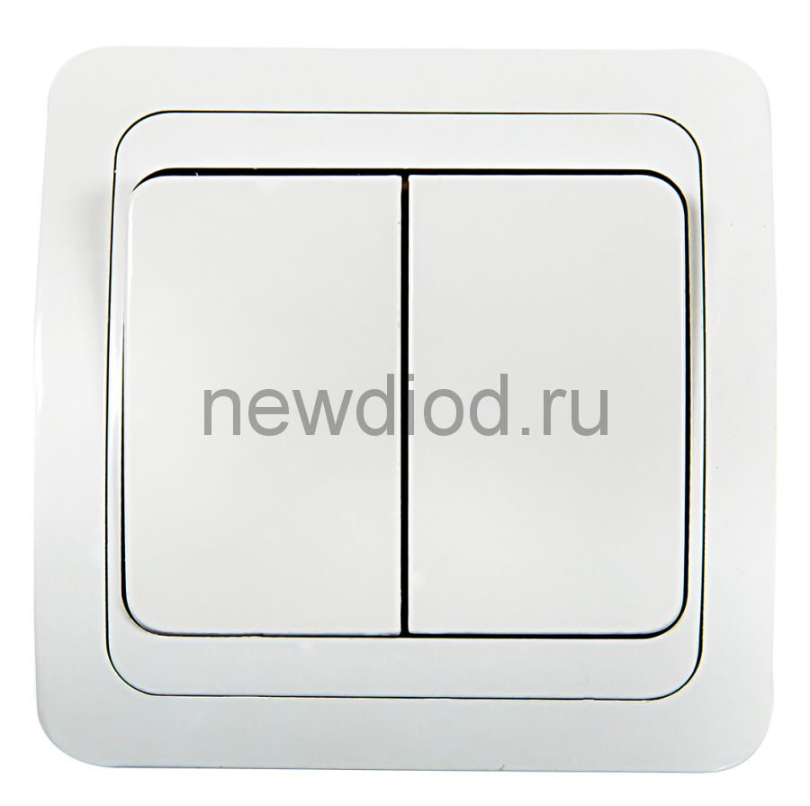Выключатель 2кл CLASSICO белый 2023 IN HOME