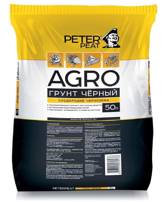 Грунт PETER PEAT AGRO черный 50 л
