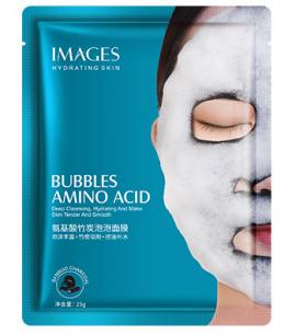 Пузырьковая маска с аминокислотами и бамбуковым углем Images от  «BIOAQUA» .(29688)
