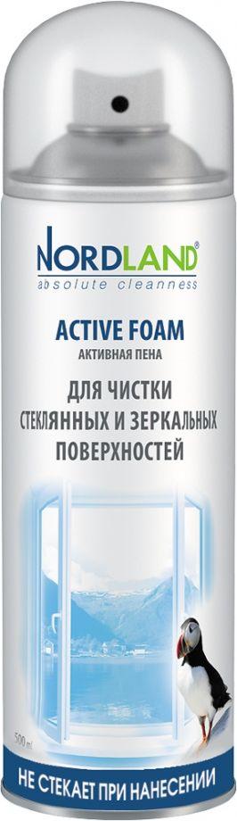 Nordland Активная пена для чистки стеклянных и зеркальных поверхностей, 500 мл