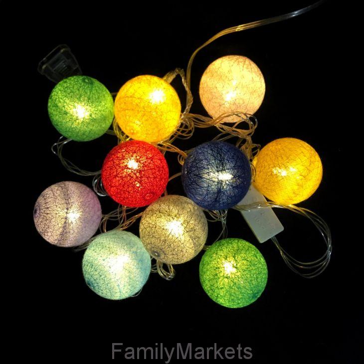 Электрическая гирлянда Шарики, разноцветная