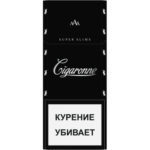 CIGARONNE Super Slim Black 100mm