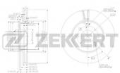 Тормозной диск передний Solaris/Rio 3 BS-5276