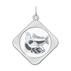Подвеска «Знак зодиака Рыбы» 94100078 SOKOLOV